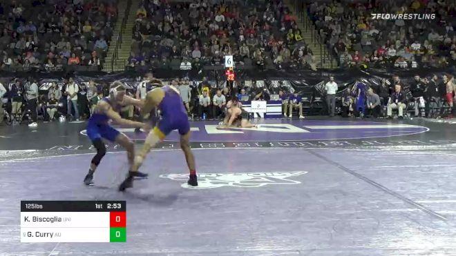 125 lbs Prelims - Kyle Biscoglia, Northern Iowa vs Gage Curry, American