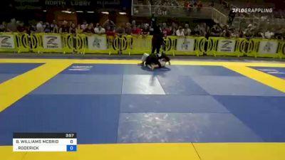 BRANDON WILLIAMS MCBRIDE vs RODERICK JEREMIAH CASTRO 2021 Pan Kids Jiu-Jitsu IBJJF Championship