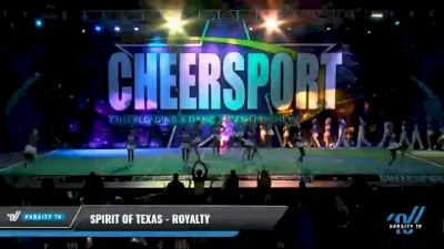 Spirit of Texas - Royalty [2021 L6 Senior Coed - Medium Day 1] 2021 CHEERSPORT National Cheerleading Championship