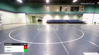 132 lbs Round Of 256 - George Rosas, CA vs Gage Owen, MD