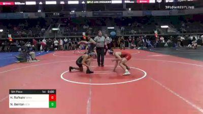 128 lbs 5th Place - Hayden Rofkahr, Arkansas vs Nakos Benton, DC Gold