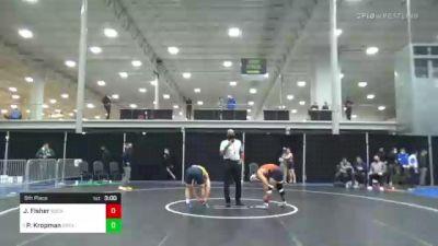 157 lbs 5th Place - Jaden Fisher, Bucknell vs Parker Kropman, Drexel
