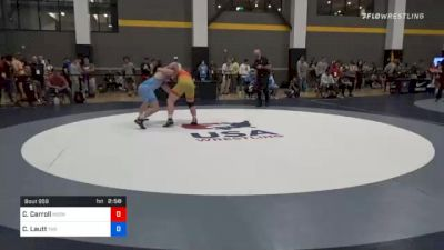 97 kg Quarterfinal - Christian Carroll, Midwest Regional Training Center vs Cade Lautt, Tar Heel Wrestling Club