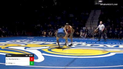 174 lbs Anthony Mantanona, OK vs Cade King, SDSU
