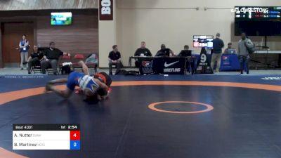 63 kg Rnd Of 16 - Alston Nutter, Sunkist Kids Wrestling Club vs Blaine Martinez, Kctc