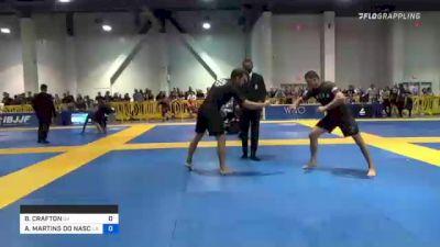 BILLY CRAFTON vs ALEX MARTINS DO NASCIMENTO 2021 American National IBJJF Jiu-Jitsu Championship