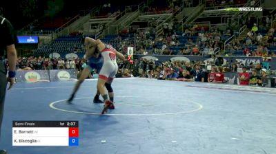 120 lbs Semifinal - Eric Barnett, Wisconsin vs Kyle Biscoglia, Iowa