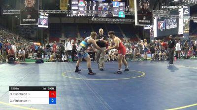 220 lbs Rnd Of 64 - Guillermo Escobedo, California vs Cody Pinkerton, Wyoming