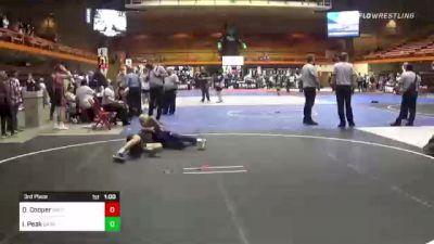 132 lbs 5th Place - Clay Donovan, Spearfish Spartans vs Santino Robinson, Wrestling 365