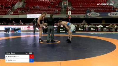125 kg Consolation - Austin Emerson, Nebraska Wrestling Training Center vs John Borst, Unattached