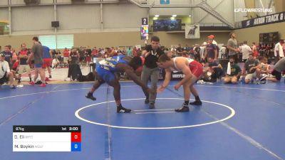 97 kg Round Of 16 - David Eli, Boilermaker RTC vs Michael Boykin, Wolfpack Wrestling Club