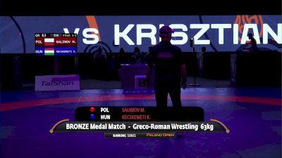 63kg Bronze - Mairbek Salimov, POL vs  Krisztian Kecskemeti, HUN