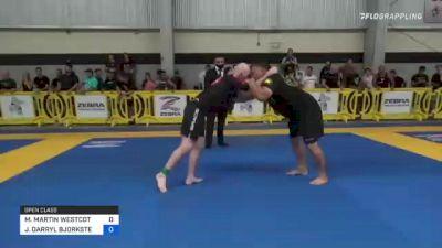 MICHAEL MARTIN WESTCOTT vs JON DARRYL BJORKSTEN 2021 Pan IBJJF Jiu-Jitsu No-Gi Championship