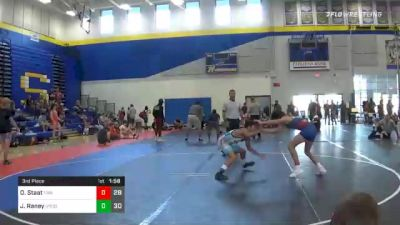 113 lbs 3rd Place - Owen Staat, Thoroughbred Wrestling Academy vs Jordyn Raney, Union County Wrestling Club