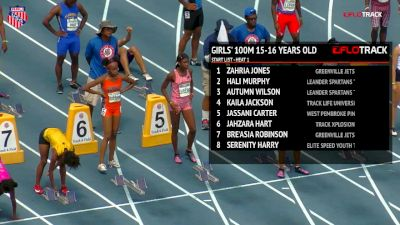 Girls' 100m, Final - Age 15-16