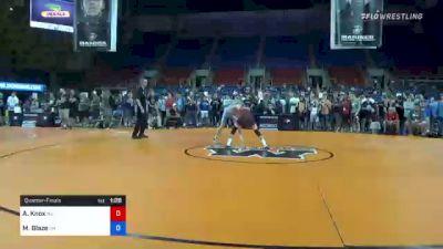 106 lbs Quarterfinal - Anthony Knox, New Jersey vs Marcus Blaze, Ohio