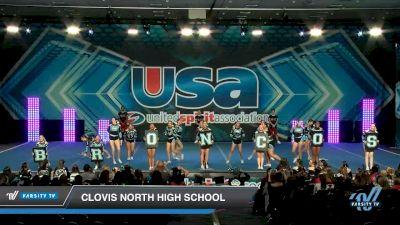 Clovis North High School [2020 Large JV Show Cheer Novice (17-36) Day 1] 2020 USA Spirit Nationals