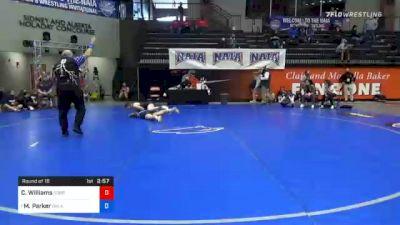 136 lbs Prelims - Carson Williams, Corban vs Mattison Parker, Oklahoma City