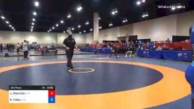 57 kg 5th Place - Joseph Manchio, New York City RTC vs Rayvon Foley, Unattached