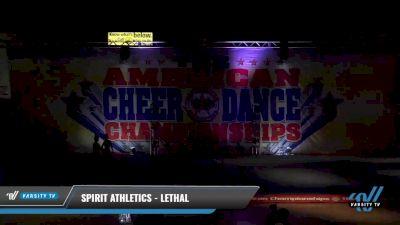 Spirit Athletics - Lethal [2021 L3 Junior - D2 - Medium Day 2] 2021 The American Celebration DI & DII