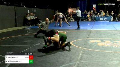 174 lbs Consi Of 16 #1 - Foster Karmon, Stanford vs Arsen Ashughyan, Ohio