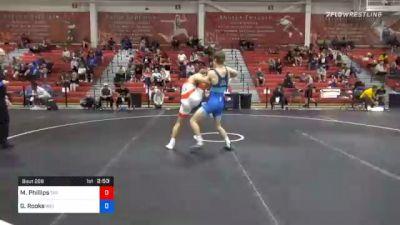 70 kg Consolation - Mason Phillips, Tar Heel Wrestling Club vs Graham Rooks, Indiana RTC