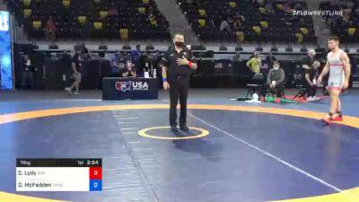 79 kg Quarterfinal - Dylan Lydy, Indiana vs David McFadden, TMWC/ PENN RTC
