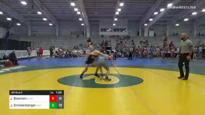 120 lbs Prelims - John Bowman, Shenandoah Valley Wrestling Club vs Jett Strickenberger, Team Shutt North
