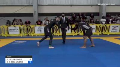 JOHN TAYLOR COMBS vs STANLEY E. ROSA VALERIO 2021 Pan IBJJF Jiu-Jitsu No-Gi Championship