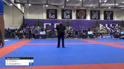 Katherine N Stewa vs Emily Elizabeth Fe 2019 Pan IBJJF Jiu-Jitsu No-Gi Championship