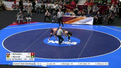 165 lbs, 5th Place, Alex Marinelli, Iowa vs David McFadden, VA Tech