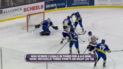 Full Replay - Alaska vs Minnesota State | WCHA (M)