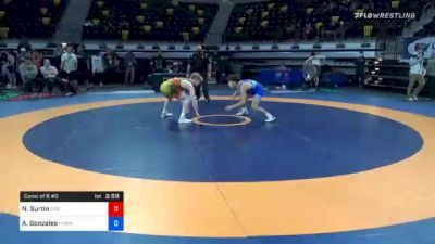 57 kg Consolation - Noah Surtin, Tiger Style Wrestling Club vs Andre Gonzales, Poway High School Wrestling