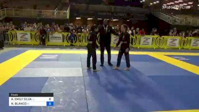 ARIANA EMILY SILVA vs NAILIY BLANCO 2021 Pan Kids Jiu-Jitsu IBJJF Championship
