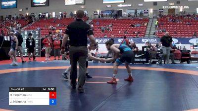 65 kg Cons 16 #2 - Ben Freeman, Michigan vs Joey Mckenna, TMWC/ Ohio RTC