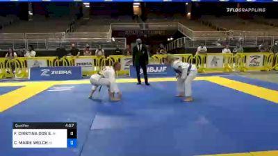 FERNANDA CRISTINA DOS S. GALEANO vs CASIDY MARIE WELCH 2020 World Master IBJJF Jiu-Jitsu Championship