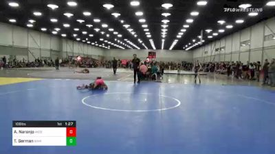 106 lbs Quarterfinal - Ashley Naranjo, Ascend Wrestling Academy vs Taylor German, Iowa