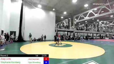 155 lbs Rr Rnd 2 - Zoey Lints, Journeyman vs Stephanie Kornberg, Gps Wrestling Club