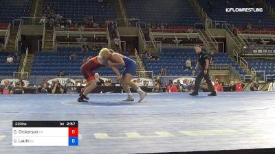 220 lbs Cons Semis - Cabe Dickerson, Oklahoma vs Cade Lautt, Kansas
