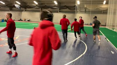 Miller Boys Warming Up With Wisconsin