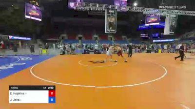 170 lbs Consi Of 8 #2 - Cole Hopkins, Michigan vs Joseph Jens, Illinois