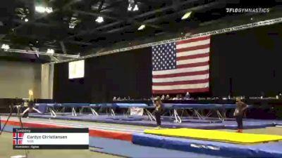 Cardyn Christiansen - Tumbling, NSB - 2021 USA Gymnastics Championships