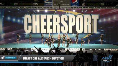 IMPACT ONE Allstars - DEVOTION [2021 L3 Junior - Small Day 1] 2021 CHEERSPORT: Charlotte Grand Championship