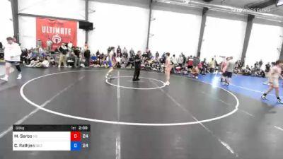 66 kg Semifinal - Matthew Sarbo, M2 Magicians vs Caleb Rathjen, Sebolt Wrestling Academy