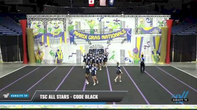 TSC All Stars - Code Black [2021 L5 Junior Coed] 2021 MG Bead Blast