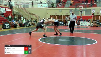 215 lbs Semifinal - Noah Tustin, Waynesburg vs Charlie Lundy, Williamsport