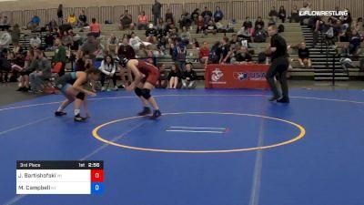 50 kg 3rd Place - Josie Bartishofski, Team Wisconsin vs Mckayla Campbell, Team Kentucky