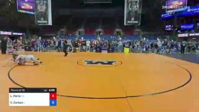 152 lbs Round Of 32 - Lucien Perla, Massachusetts vs Vincent Zerban, Illinois