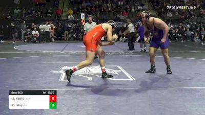 285 lbs Quarterfinal - Jere Heino, Campbell vs Carter Isley, Northern Iowa