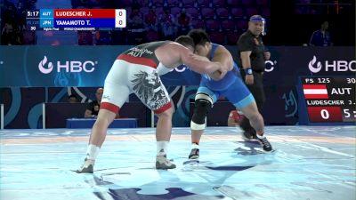 125 kg Round Of 16 - Johannes Ludescher, Austria vs Taiki Yamamoto, Japan